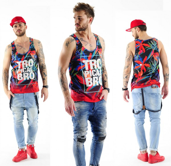 VSCT Clubwear Tropical Bro Tank Top Shirt