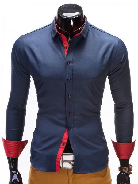 Designer Hemd Ombre dunkelblau