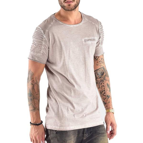 VSCT Biker T-Shirt oilwashed camel