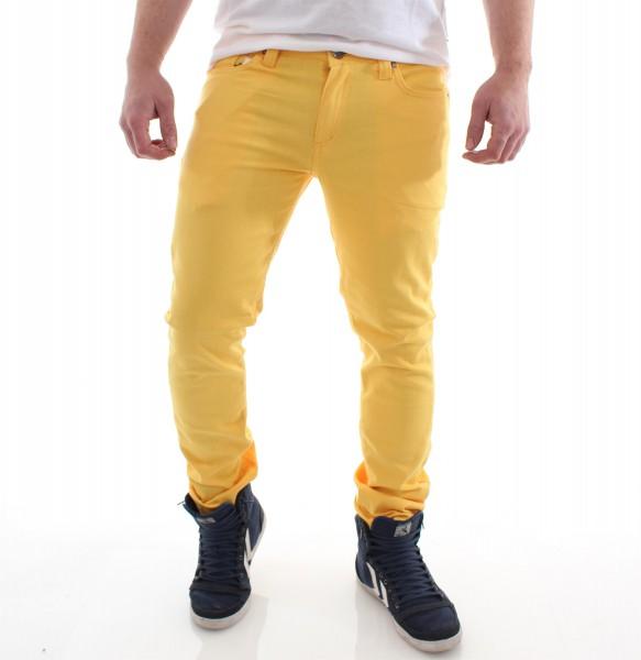 Raw Blue Skinny Pant Röhre yellow