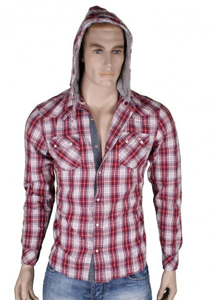 VSCT Hooded checked dayshirt