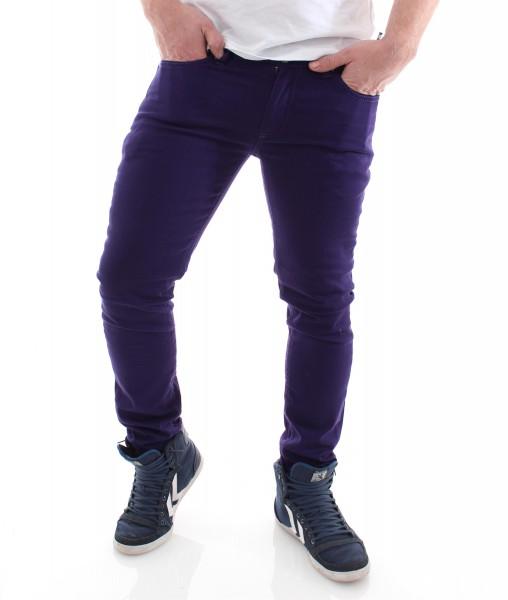 Raw Blue Skinny Pant Röhre purple