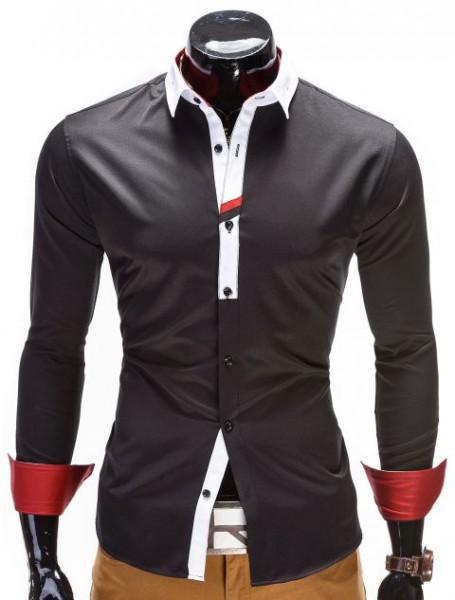 Designer Hemd Ombre schwarz