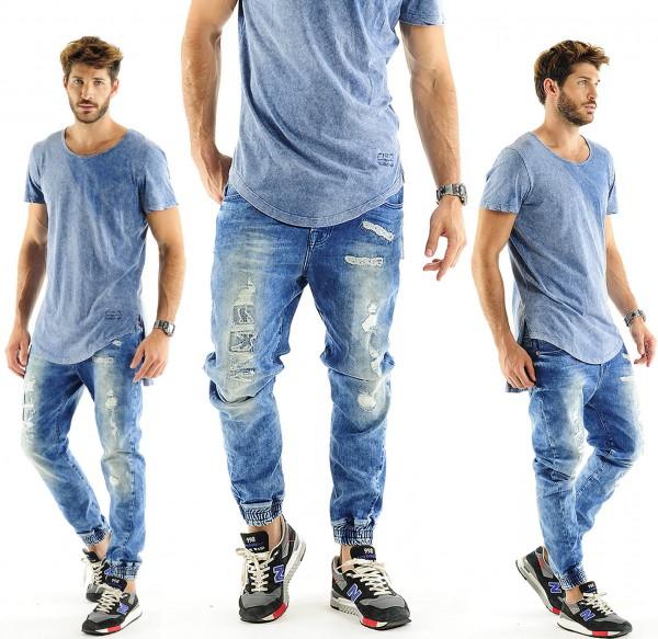 VSCT Clubwear Noah Cuffed Jeans Hose New Acid Wash