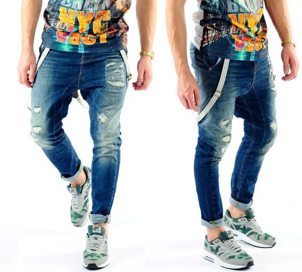 VSCT Brad Slim Fit Jeans w. Suspenders tinted