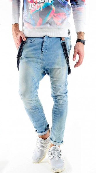 VSCT Brad Slim Fit Jeans w. Suspenders Suspenders Oxygen