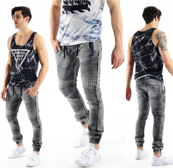 VSCT Clubwear Neo Cuffed Jeans Grey Stoned