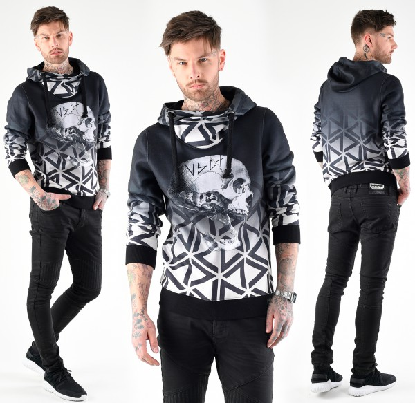 VSCT Clubwear Twisted Skull Matrix Hoodie