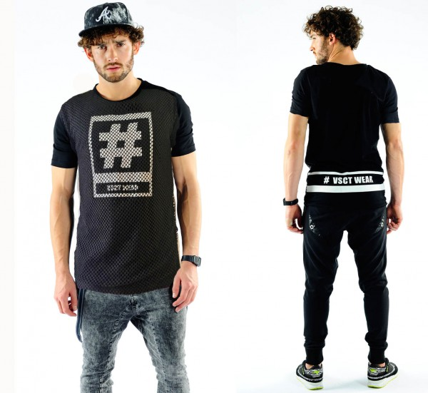 VSCT Hashtag Mesh T-Shirt schwarz
