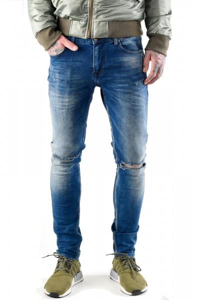 VSCT Clubwear Jeans Maurice Slim Kneecut Midblue
