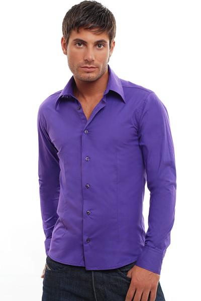 Wasabi Clubwear Designer Hemd lilac