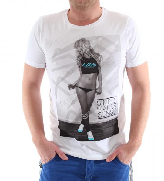 SMS Sneaker Girl R-Neck Shirt white