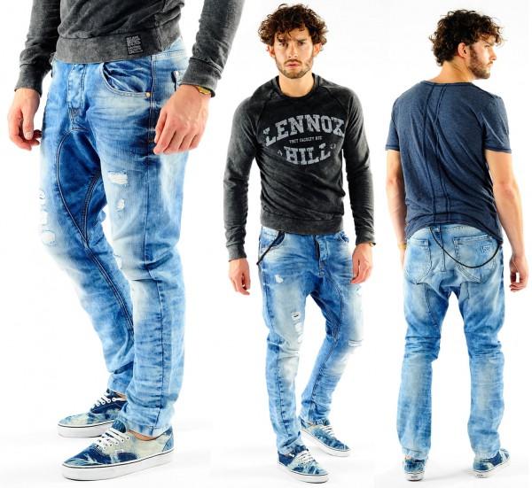 VSCT Spencer Low Crotch Jeans acid washed