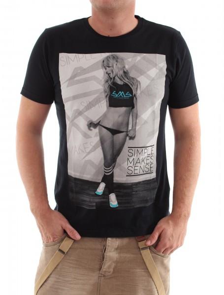 SMS Sneaker Girl R-Neck Shirt black