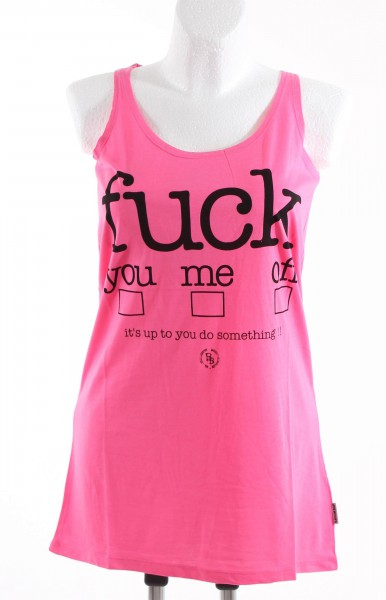 Boom Bap Fuck Up Girl Tank Shirt pink