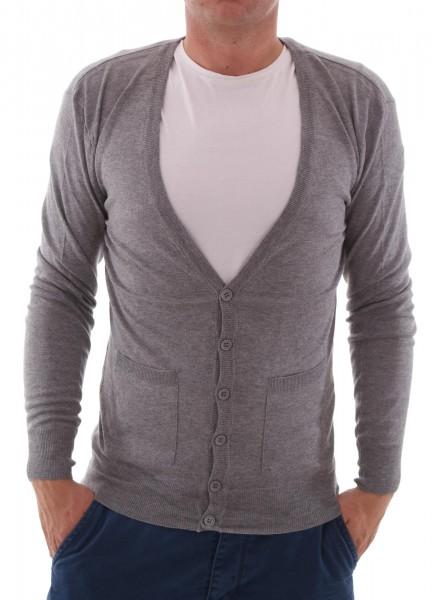 Eleven Paris Basic Cardigan Knit Grey chine