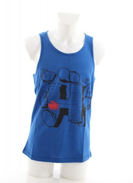 Humör Huz Tank Top blue