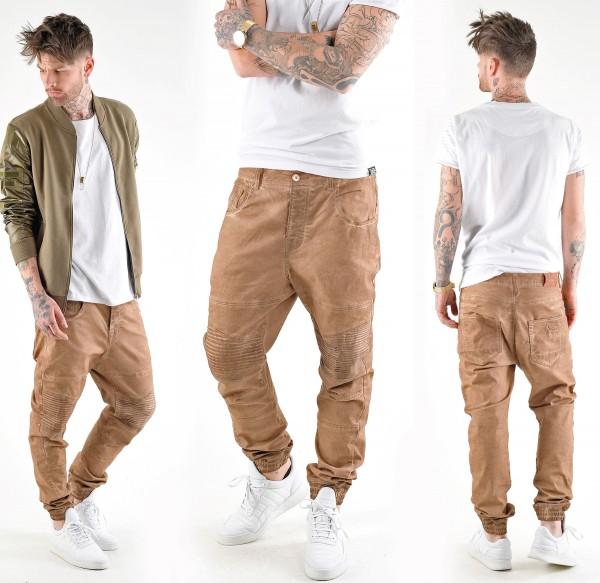 VSCT Clubwear Noah Biker Jeans Cargo Camel Overdyed