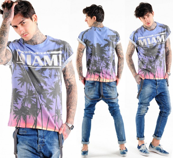 VSCT Miami Palms Print T Shirt