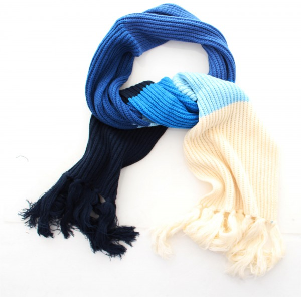 Humör Braid Scarf Strickschal dress blues