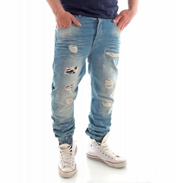 VSCT Clubwear Noah Cuffed Sunfaded Vintage Denim Jeans