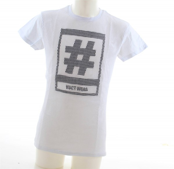 VSCT Hashtag Mesh T-Shirt weiss