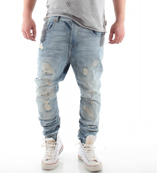 VSCT Clubwear Noah Cuffed Jeans Totally Destroyed