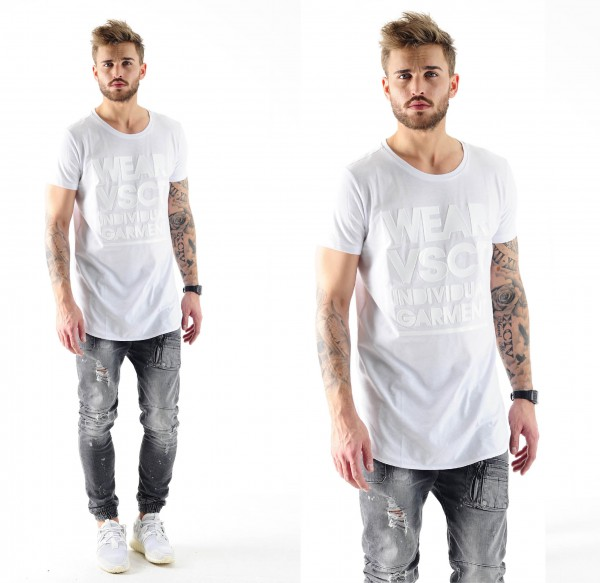 VSCT Monochrome Long Fit T-Shirt white