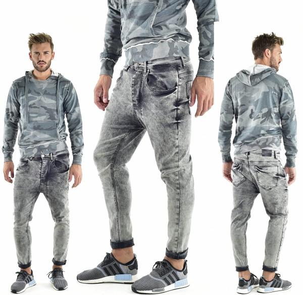 VSCT Clubwear Keanu Lowcrotch Jeans grey moonwashed