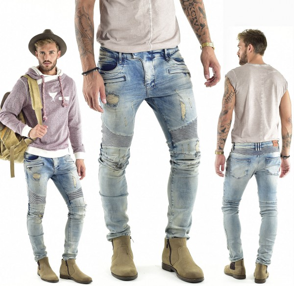 VSCT Clubwear Liam Biker Zip Pocket Jeans