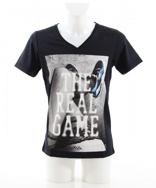 SMS The Real Game V-Neck Shirt black