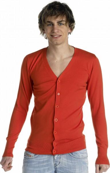 Diesel Karazex Cardigan Knit red