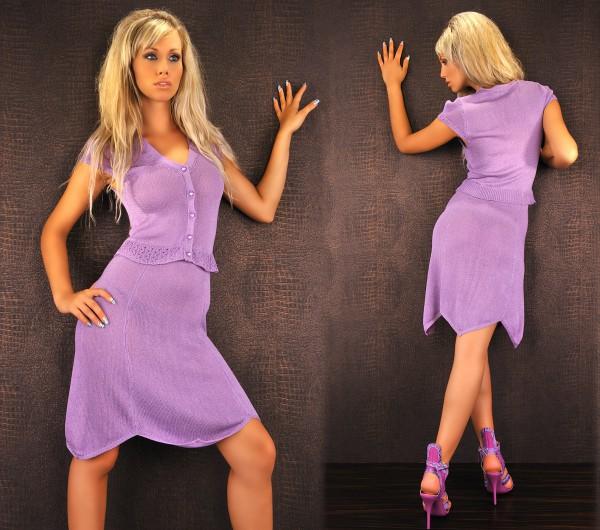 Clubwear Fashion Strick Kleid lila