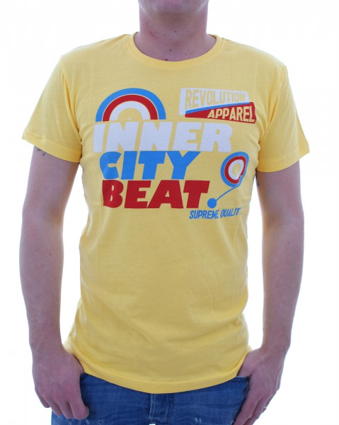RVLT Revolution Beat Holla T-Shirt yellow