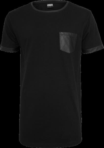 Urban Classics Long Leather T-Shirt schwarz