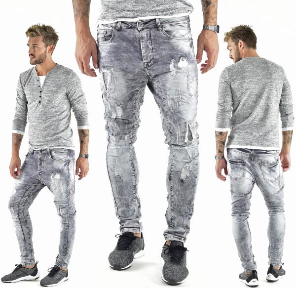 VSCT Clubwear Carter 5 Pocket Jeans Denim Silver Heavy used