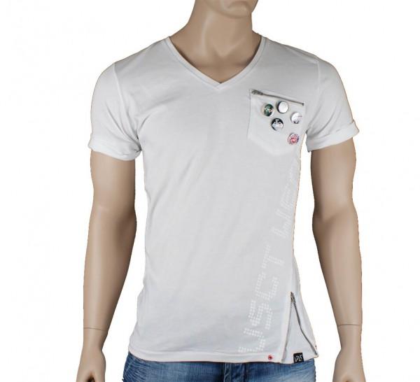 VSCT Deep V-Neck future T Shirt white