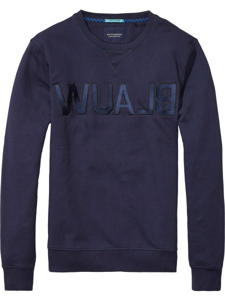Scotch & Soda Amsterdam BlauW Brand Sweat Pullover midnight