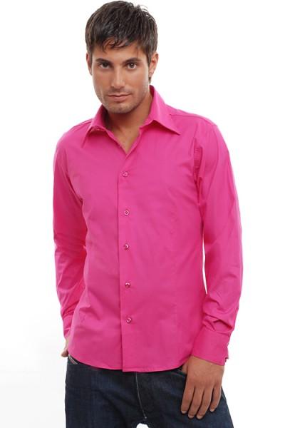 Wasabi Clubwear Designer Hemd fuchsia