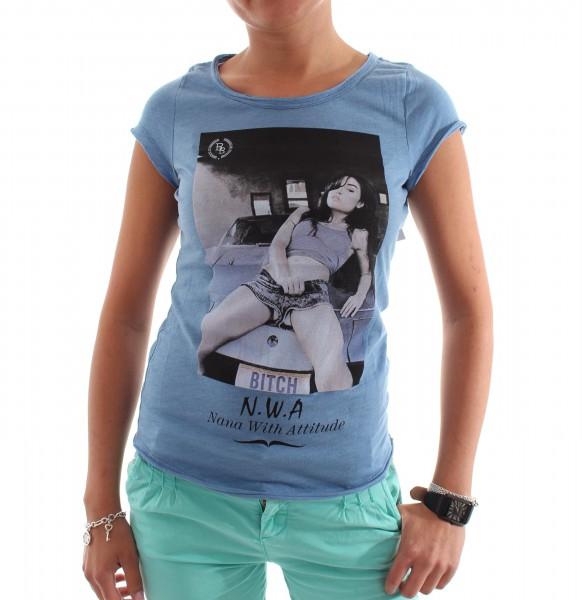 Boom Bap NWA Girl Shirt denim