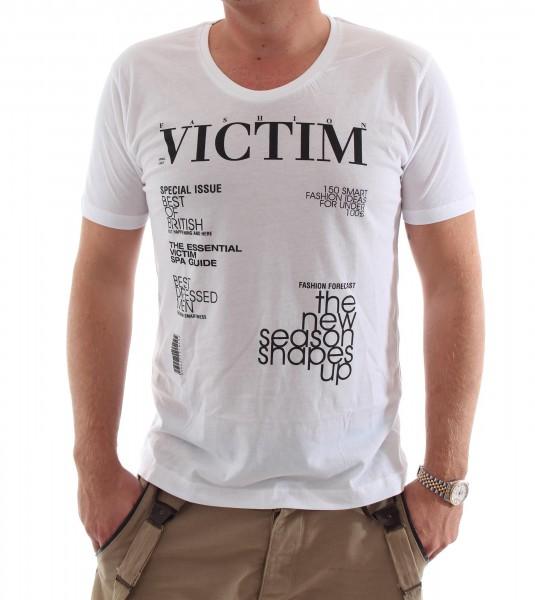 Be Famous Shirt S-Neck Victim white