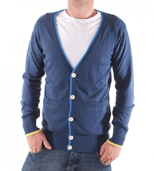 RVLT Revolution Brixton Cardigan Knit navy