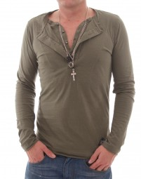 VSCT Double Collar Shirt with Chain khaki