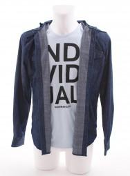 VSCT Hooded Denim Shirt & Tee Optic blue