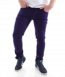 Raw Blue Skinny Pant Röhre purple