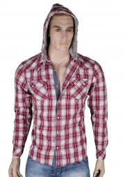 VSCT Hooded checked dayshirt